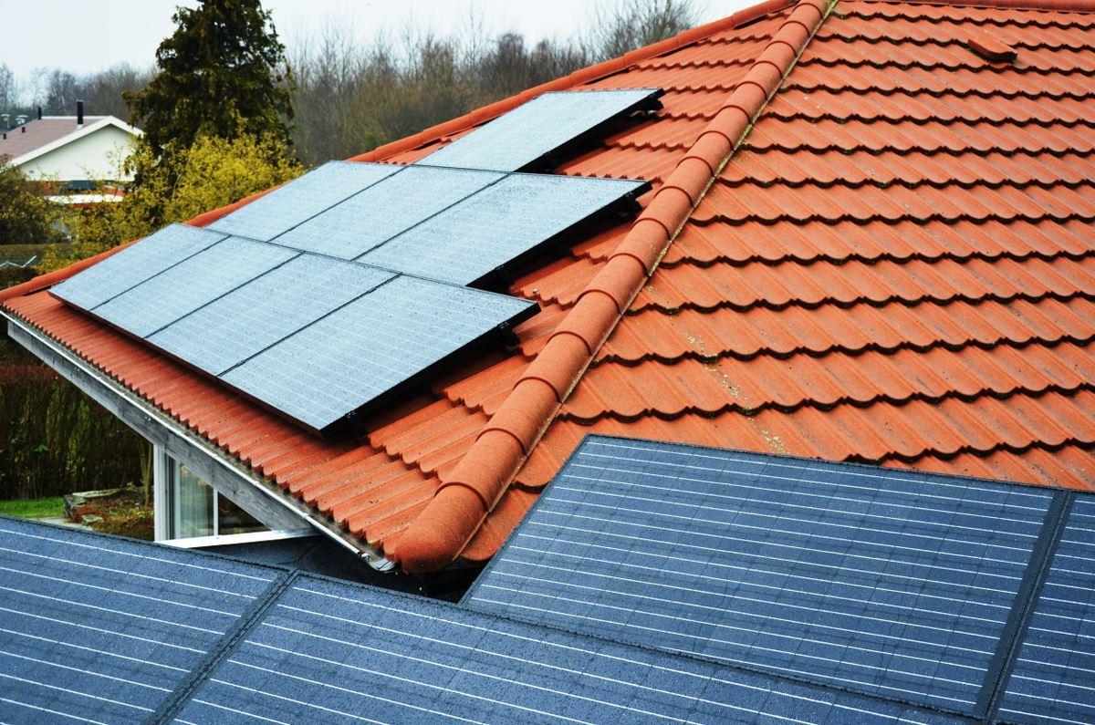 tag integrerede solceller