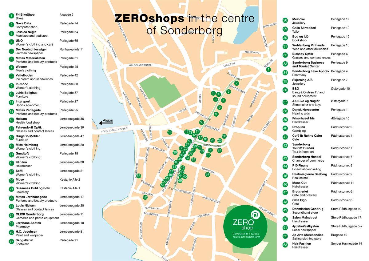 Find ZERObutikkerne i Sønderborg midtby